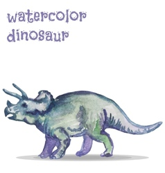 Watercolor dinosaur vector