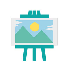 Wonderful picture landscape icon vector