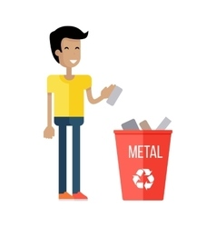 Waste Recycling Concept vector image