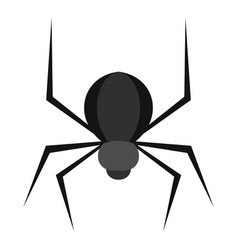 Black spider icon isolated vector
