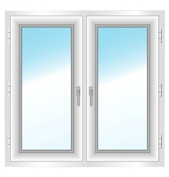 Plastic closed double window vector