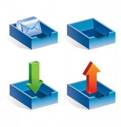 Mail icons vector