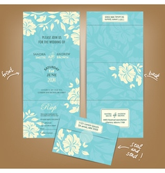 Wedding invitation seal and send vector