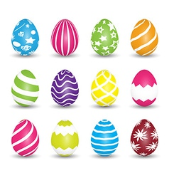 Set of easter egg icons vector
