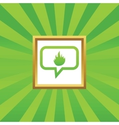 Fire message picture icon vector