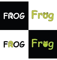 Logo frog for company vector