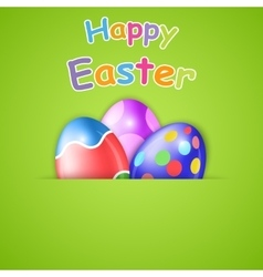Happy easter card with egg vector