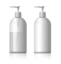 Realistic dispenser for soap vector