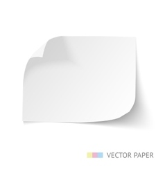 Paper banner with curl corners vector
