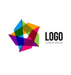 Star logo template layout abstract vector