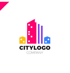 Abstract city building logo design concept symbol vector