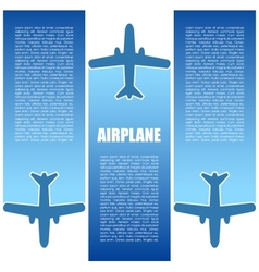 Air flight vector image vector image