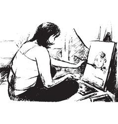 artist vector image vector image