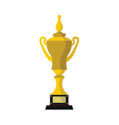 champion cup for winner in flat style vector image