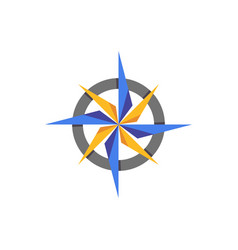 compass abstract icon elament vector image