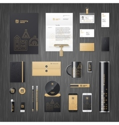Corporate identity for real estate vector