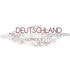 Deutschland word cloud concept vector