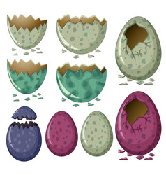 different patterns of dinosaur eggs vector image