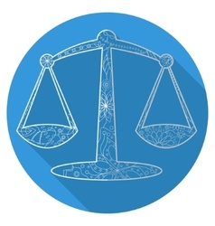 Flat icon of zodiac sign Libra vector image