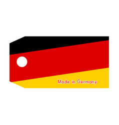 Germany flag on price tag with word made in vector