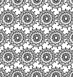 Grey floral patterned background vector