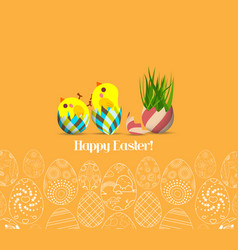 Happy easter for design posters and flyers on the vector