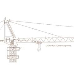 Industrial crane background vector