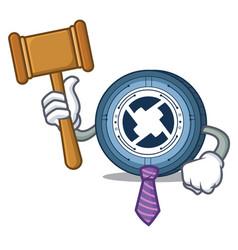 Judge 0x coin mascot cartoon vector