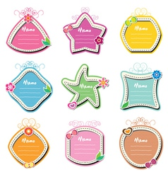 memo note set vector image