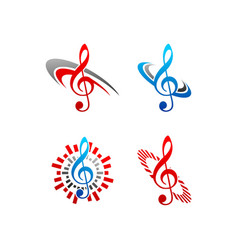music note logo vector image vector image