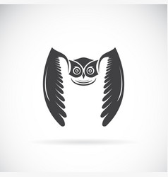 owl design on white background bird wild vector image vector image