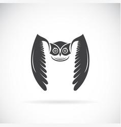 owl design on white background bird wild vector image