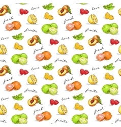 pattern fruit vector image