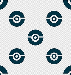 Pokeball icon sign seamless pattern with geometric vector