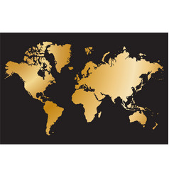 political world map isolated on black background vector image