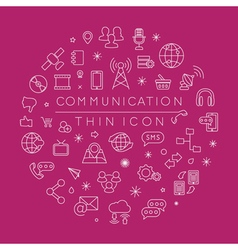 Set of Communication icons eps10 format vector image
