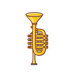 Trumpet childrens toy vector