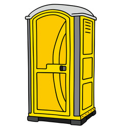 Yellow mobile toilet vector