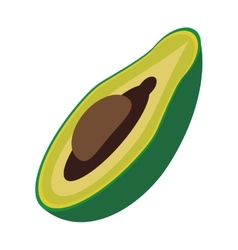 Avocado organic food design vector