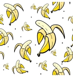 Seamless pattern with bananas vector