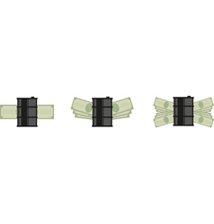 oil money icon vector image