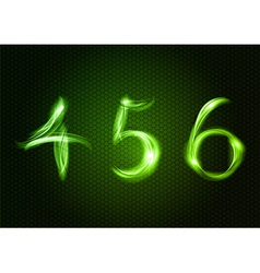 Abstract 456 green vector