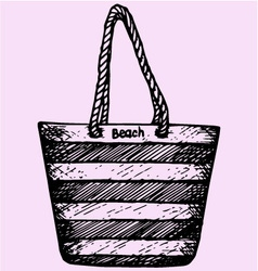 Beach summer bag vector image