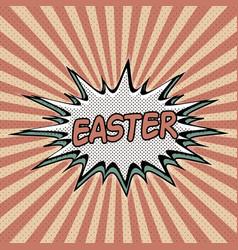 vintage pop art background easter vector image