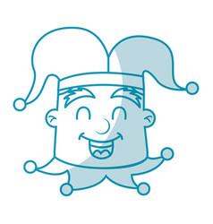 shadow jester face cartoon vector image