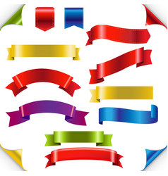 big color ribbons set vector image