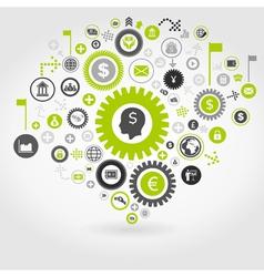 Business gear wheel3 vector image