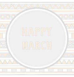 Happy march background1 vector