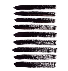 Black acrylic brush strokes vector