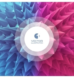 3D abstract template vector image vector image